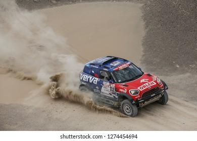 Dakar Rally 2018. Peru, Bolivia, Argentina. From Lima to Cordoba. 6/20 Jenuary 2018. Jakub Przygonski, Poland, Mini.
