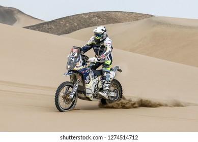 Dakar Rally 2018. Peru, Bolivia, Argentina. From Lima to Cordoba. 6/20 Jenuary 2018. Txomin Arana, Spain, Husqvarna.