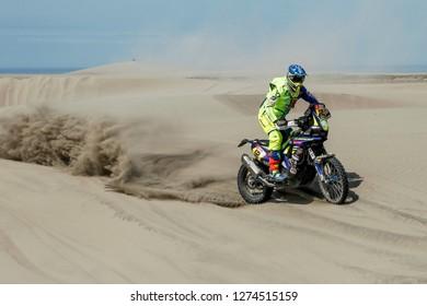 Dakar Rally 2018. Peru, Bolivia, Argentina. From Lima to Cordoba. 6/20 Jenuary 2018. Joan Pedrero, France, Sherco.