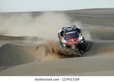 Dakar Rally 2018. Peru, Bolivia, Argentina. From Lima to Cordoba. 6/20 Jenuary 2018. Carlos Sainz and Lucas Cruz, Peugeot 3008 DKR, winner of Dakar Rally car category.