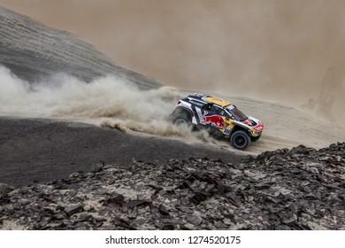 Dakar Rally 2018. Peru, Bolivia, Argentina. From Lima to Cordoba. 6/20 Jenuary 2018. Stephane Peterhansel, Jean Paul Cottret, Peugeot 3008 DKR.