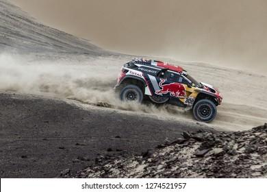 Dakar Rally 2018. Peru, Bolivia, Argentina. From Lima to Cordoba. 6/20 Jenuary 2018. Cyril Despres and David Castera, Peugeot 3008 DKR.