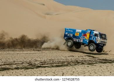 Dakar Rally 2018. Peru, Bolivia, Argentina. From Lima to Cordoba. 6/20 Jenuary 2018.Dmitrij Sotnikov, Russia, Kamaz.