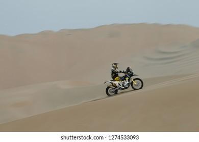 Dakar Rally 2018. Peru, Bolivia, Argentina. From Lima to Cordoba. 6/20 Jenuary 2018. Andrew Short, USA, Husqvarna.