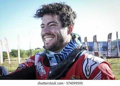 Dakar Rally in Paraguay, Bolivia, Argentina. 2/14 Jenuary 2017. Franco Caimi, Honda.