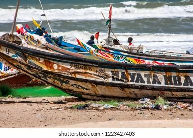 Dakar, senegal 01/16/2018 : playa of dakar