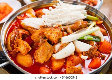 dakbokkeumtang, Braised Spicy Chicken, chicken roast , chicken, spicy, hot, chili,red pepper paste, gochujang, potato, carot, egg