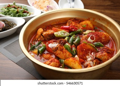 dakbokkeumtang, Braised Spicy Chicken, chicken roast , chicken, spicy, hot, chili,red pepper paste, gochujang, potato, carot, egg