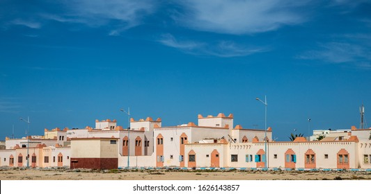 DAKHLA, MOROCCO, JAN 12, 2019: view of Dakhla, a city of Western Sahara, Morocco