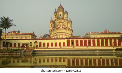 Dakhsineswar Kali temple of Kolkata , India. It is the oldest Kali temple in Kolkata which is famous tourist point and a spiritual place.