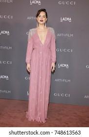 Dakota Johnson at the 2017 LACMA Art + Film Gala Honoring Mark Bradford And George Lucas held at the LACMA in Los Angeles, USA on November 4, 2017.
