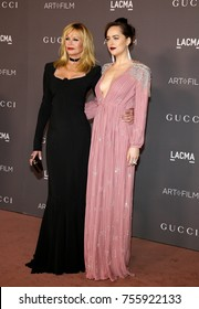 Dakota Johnson and Melanie Griffith at the 2017 LACMA Art + Film Gala held at the LACMA in Los Angeles, USA on November 4, 2017.