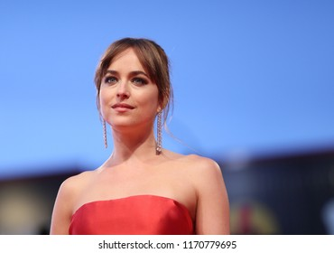 Dakota Johnson walks the red carpet ahead of the 'Suspiria' screening during the 75th Venice Film Festival at Sala Grande on September 1, 2018 in Venice, Italy.