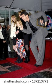 Dakota, Melanie Griffith, Stella, Antonio Banderas at the induction ceremony for Star on the Hollywood Walk of Fame for Antonio Banderas, Hollywood, Los Angeles, October 18, 2005