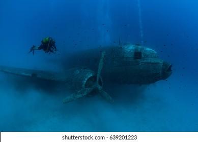 dakota Plane Wreck Underwater