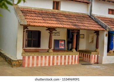 DakshinaChitra - Chennai, TamilNadu / India - July 14, 2019. Picture of Agraharam style Houses Model located at DakshinaChitra. - Image