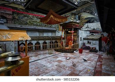 DAKSHINKALI/NEPAL - NOVEMBER 14, 2016: Shree Dakshin Kali (Dackshinkali) Temple in Pharping, Nepal