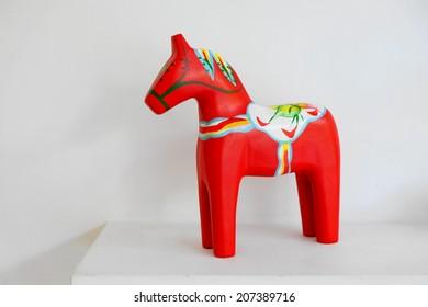 Dalahast or Dalecarlian horses (Swedish dala horse)