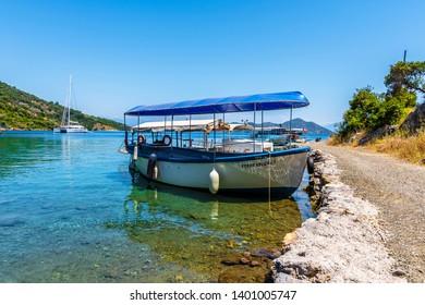 Dalaman, Turkey - May 16, 2019 : Sarsala Bay view in Dalaman Town of Turkey