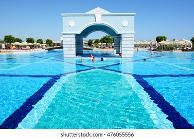 DALAMAN, TURKEY - MAY 19: The tourists enjoing their vacation in luxury hotel on May 19, 2013 in Dalaman, Turkey. More then 36 mln tourists have visited Turkey in year 2013