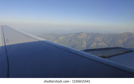 DALAMAN, TURKEY - MAY 7 2014: Landing in Dalaman International Airport