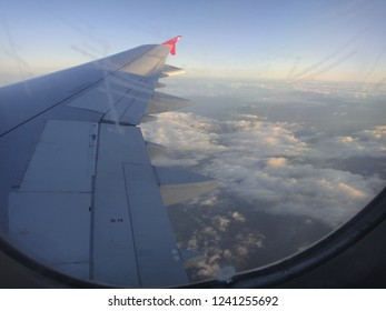 DALAMAN, TURKEY - MAY 7 2014: Landing in Dalaman International Airport