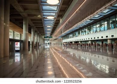 Dalaman, Turkey- Oct 16, 2018: Interior airport Mugla Dalaman