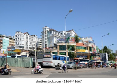 DALAT, VIETNAM - APRIL 12, 2015 - Cityscape of Dalat, Vietnam. Dalat is also called Little Paris of Vietnam