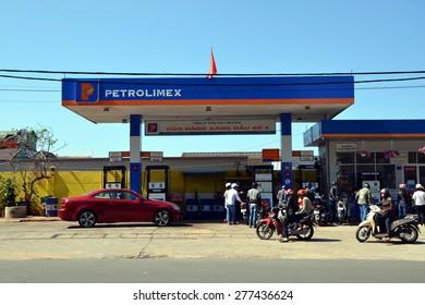 DALAT, VIETNAM - APRIL 12, 2015 - Dalat, Vietnam. Petrolimex Gas Station