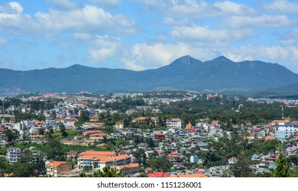 Dalat, Vietnam - Jan 25, 2016. Aerial view of Dalat, Vietnam. Dalat is located in the South Central Highlands of Vietnam.