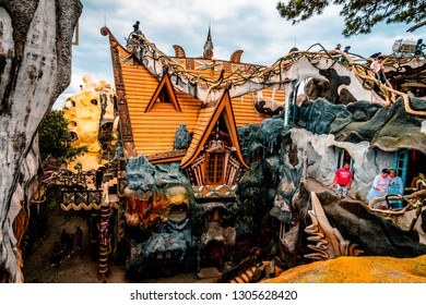 DALAT, VIETNAM. January 23, 2019. Hang Nga guesthouse, Crazy House, in Dalat, Vietnam. It is designed and constructed by Vietnamese woman architect Dang Viet Nga