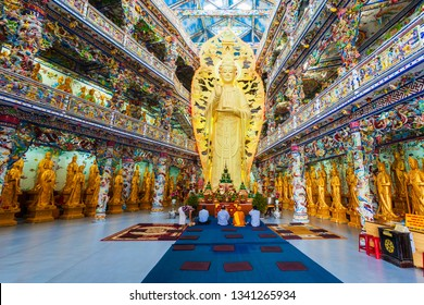 DALAT, VIETNAM - MARCH 12, 2018: Linh Phuoc Pagoda or Ve Chai Pagoda is a buddhist dragon temple in Dalat city in Vietnam