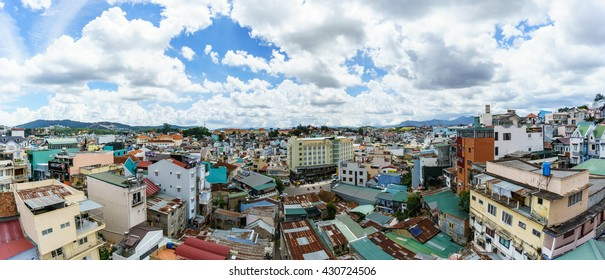 DALAT, VIETNAM May 31 2016 : Sunset in the city of Da Lat