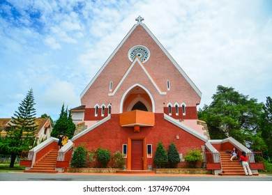 Dalat, Vietnam - Sep 14, 2018. Domaine de Marie Church in Dalat, Vietnam. The church was built in 1940 and is French and Vietnamese style of architecture.