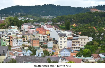 Dalat, Vietnam - Sep 14, 2018. Aerial view of Dalat, Vietnam. Dalat is located in the South Central Highlands of Vietnam.