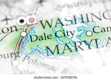 Dale City Usa On Map Stock Photo 1079200781 Shutterstock
