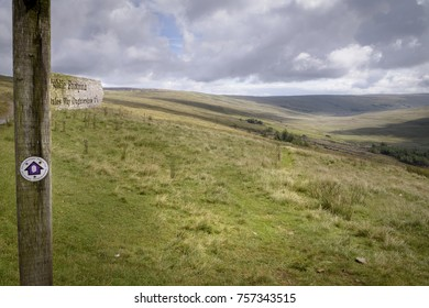 Dales Way signposting into the moorlands of England