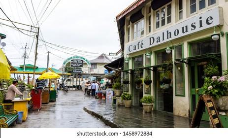 Dalhousie, Banikhet, Himachal - 20 July, 2019 - Cafe Dalhousie Restaurant on Mall road of Dalhousie