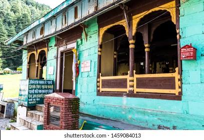 Dalhousie, Banikhet, Himachal - 20 July, 2019 - Khajji Nag Temple located nearby khajjiar lake