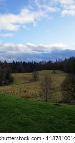 Dalhousie Castle park in a sunny winter day