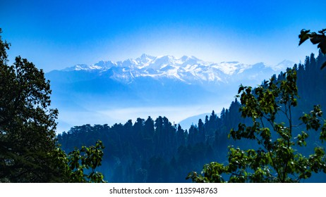 DALHOUSIE, HIMACHAL PRADESH,INDIA - JUN, 2018: View of the Pir Panjal range from Dalhousie.