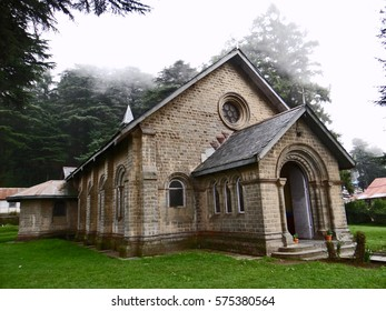 Dalhousie, India – June 21, 2014: Old Church building in  Dalhousie, built during 1863 in the British rule in India.