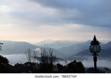 Dalhousie lamppost over the valley clouds