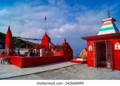 Dalhousie,Himachal Pradesh/India.taken on 05/27/2015. Mata pohlani Temple at dainkund Peak,Dalhousie,India.
