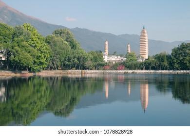 Dali Three Towers in Yunnan, China