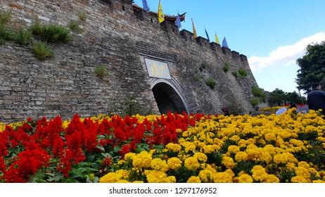 Dali, Yunnan, China - November,2018. South gate of the ancient city of Dali, old town of Dali, Yunnan, China