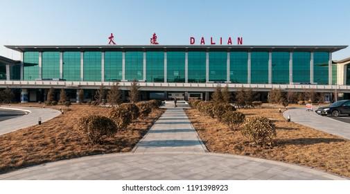 Dalian, Liaoning, China - March 25 2012: Dalian International Airport
