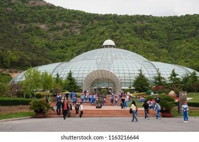 Dalian Liaoning China - may 22 2009: Flower dome of the new Dalian Botanical Garden