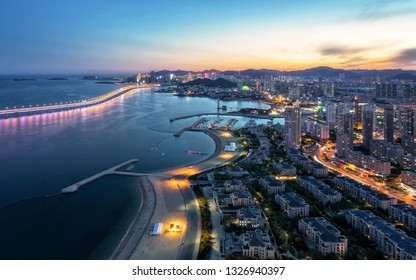 Dalian Xinghai Bay night view