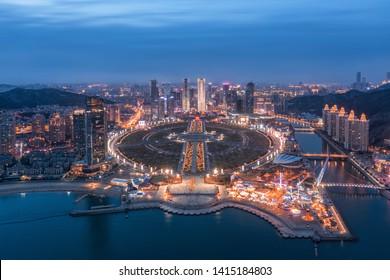 Dalian Xinghai Square night view